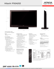 hitachi p50a202 50 plasma tv manuals rh manualslib com Hitachi Ultravision TV Parts Ultravision Hitachi Televisions