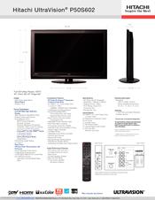 hitachi p50s602 50 plasma tv manuals rh manualslib com Hitachi 55VS69A Hitachi Projection TV Manual