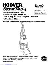 hoover f5914900 owner s manual pdf download rh manualslib com hoover steamvac plus 5 rotating brushes manual hoover steamvac plus 1000 manual