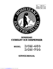 Hoshizaki DCM-450 User Manual