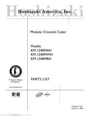Hoshizaki KM-1340MAH Manuals