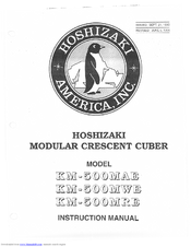 hoshizaki km 500mae instruction manual pdf download rh manualslib com hoshizaki km-500mae parts manual Ice Maker Hoshizaki KM 630Mae
