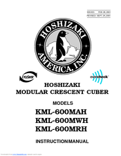 Hoshizaki KML-600MAH Instruction Manual