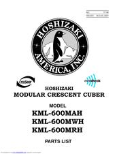 Hoshizaki KML-600MAH Parts List