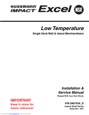 Hussmann FWEG Installation And Service Manual