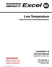Hussmann FWEG Installation And Service Manual