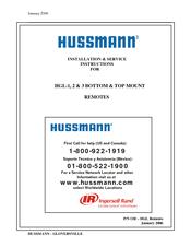 Hussmann Hgl 2 Ts Manuals Manualslib