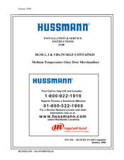 hussmann hgm-2bs installation and service instructions manual