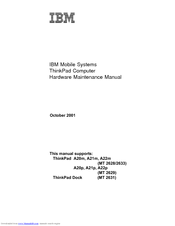 IBM ThinkPad A22m Hardware Maintenance Manual