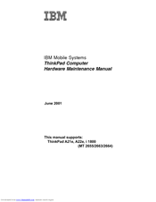 IBM ThinkPad A22e Hardware Maintenance Manual