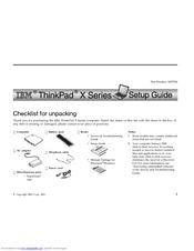 IBM THINKPAD X60S - Install Manual