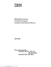 ibm thinkpad t22 manuals rh manualslib com IBM ThinkPad T60 IBM ThinkPad T42