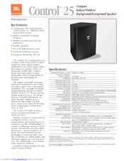 jbl control control 25 manuals rh manualslib com Install JBL Control 25 Speaker Ball Mounts JBL Control 25 Spec