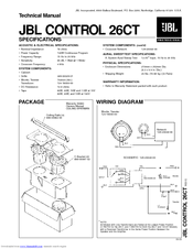 Jbl Control Control 26ct 2399926