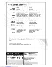 jbl powerbass pb10 manuals wiring diagram for 1988 chevrolet 12