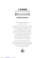 jl audio a series a4300 manuals rh manualslib com