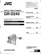 jvc gr d240ek manuals rh manualslib com JVC Mini DV Digital Camcorder JVC Camcorders Model