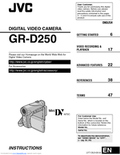JVC GR-D250EK Instructions Manual