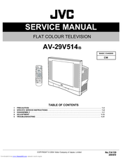 jvc av 29v514 service manual pdf download rh manualslib com JVC Rear Projection TV Manual 6 183 jvc tv service manual