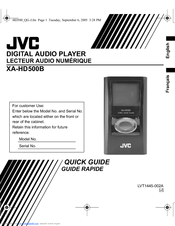 JVC XA-HD500B Quick Manual