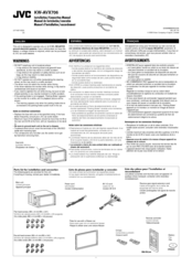 JVC EXAD KW-AVX706 Connection Manual