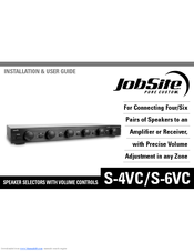 Jobsite S-6VC Installation And User Manual