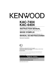 Kenwood 6404 - KAC Amplifier Instruction Manual