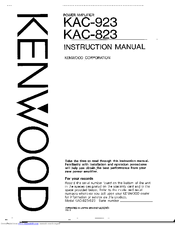 Kenwood Kac 823 Instruction Manual Pdf Download Manualslib