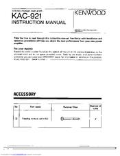 kenwood kac 921 manuals 4 channel amp wiring diagram kenwood kac 921 instruction manual