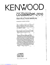 Kenwood DPF-J7010 Instruction Manual