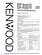 Kenwood DP-R4070 Instruction Manual