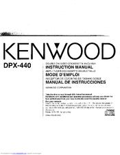 kenwood dpx 440 manuals rh manualslib com kenwood ts 440 sat manual kenwood ts 440 manual español