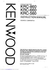 kenwood krc 860 manuals rh manualslib com KRC Hilltops Mount Lavinia KRC