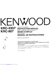 Kenwood KRC-X957 User Manual