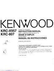 Kenwood KRC-X957 User Manual