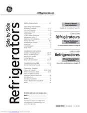 ge cshs6ugzss manuals rh manualslib com GE Mini Fridge Manual GE Select Refrigerator Manual