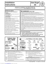GE GTDP300GMWS Installation Instructions Manual