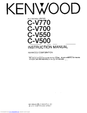 Kenwood C-V550 Instruction Manual