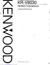 Kenwood KR-V8030 User Manual