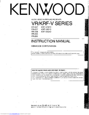 Kenwood VR-206 User Manual