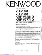 Kenwood VR-2090 Instruction Manual