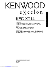 Kenwood Excelon KFC-XT14 Instruction Manual