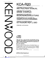 Kenwood KCA-R20 Instruction Manual