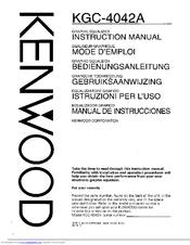 kenwood kgc 4042a instruction manual pdf download 5 Band Equalizer KGC 4042A