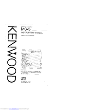 Kenwood MS-5 Instruction Manual