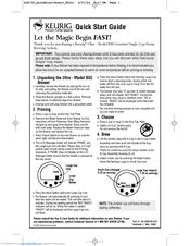 Keurig Coffee Maker B140 Manual : Keurig B50 Manuals