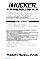 KICKER ZR360 PDF