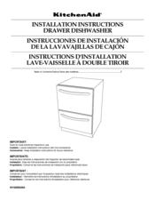 kitchenaid 2 drawer dishwasher manual
