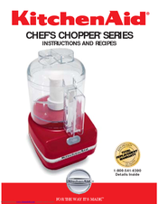 KitchenAid KFC3100OB   Chefu0027s Chopper Food Processor Instructions And  Recipes Manual