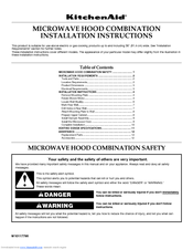 KitchenAid Architect II KHMS1850S Installation Instructions Manual